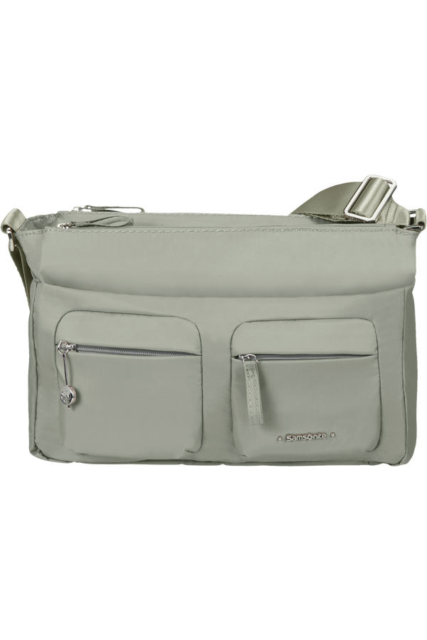Samsonite Move 3.0 Horizontal Shoulder Bag + Flap  Grey Sage