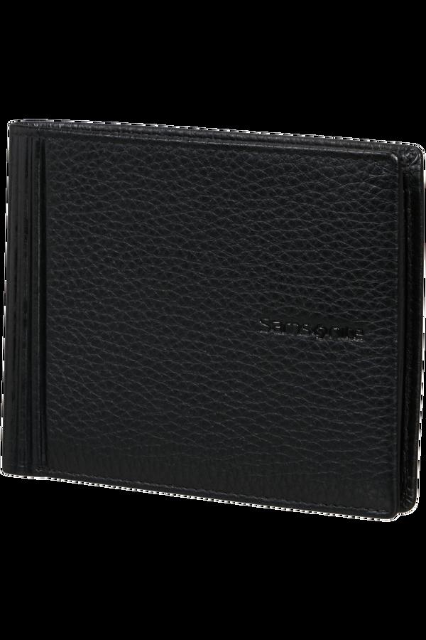Samsonite Double Leather Slg 015 - B 4CC+2C+C  Black
