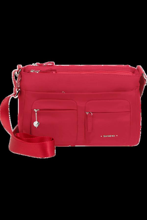 Samsonite Move 3.0 Horizontal Shoulder Bag + Flap  Cherry Red