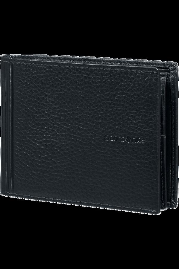 Samsonite Double Leather Slg 007 - B 7CC+VFL+C+2C+W  Black