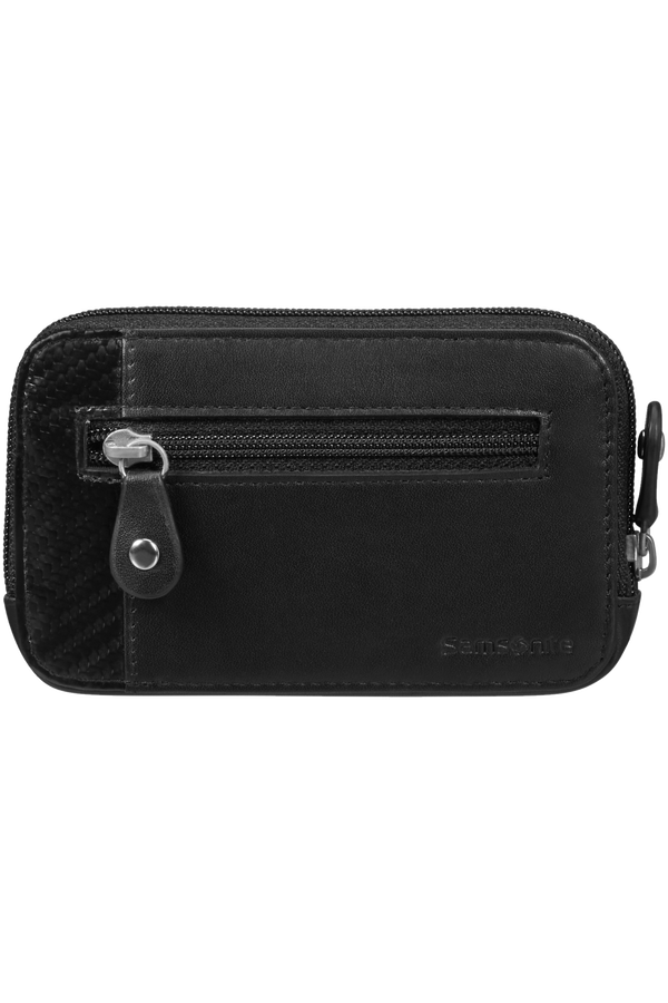 Samsonite S-Derry 2 Slg 524-Z Round Key Pouch+2R  Black