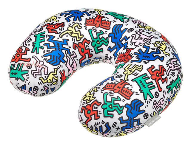 Keith Haring Travel Pillow