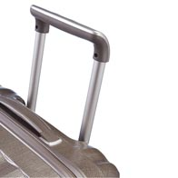 Recessed carry handles and ergonomic pull handle.