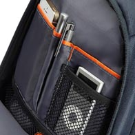 Handy front pocket with internal organization.