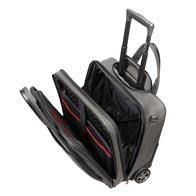 Vadderade utrymmen för laptop och surfplatta med elastisk kardborrem.